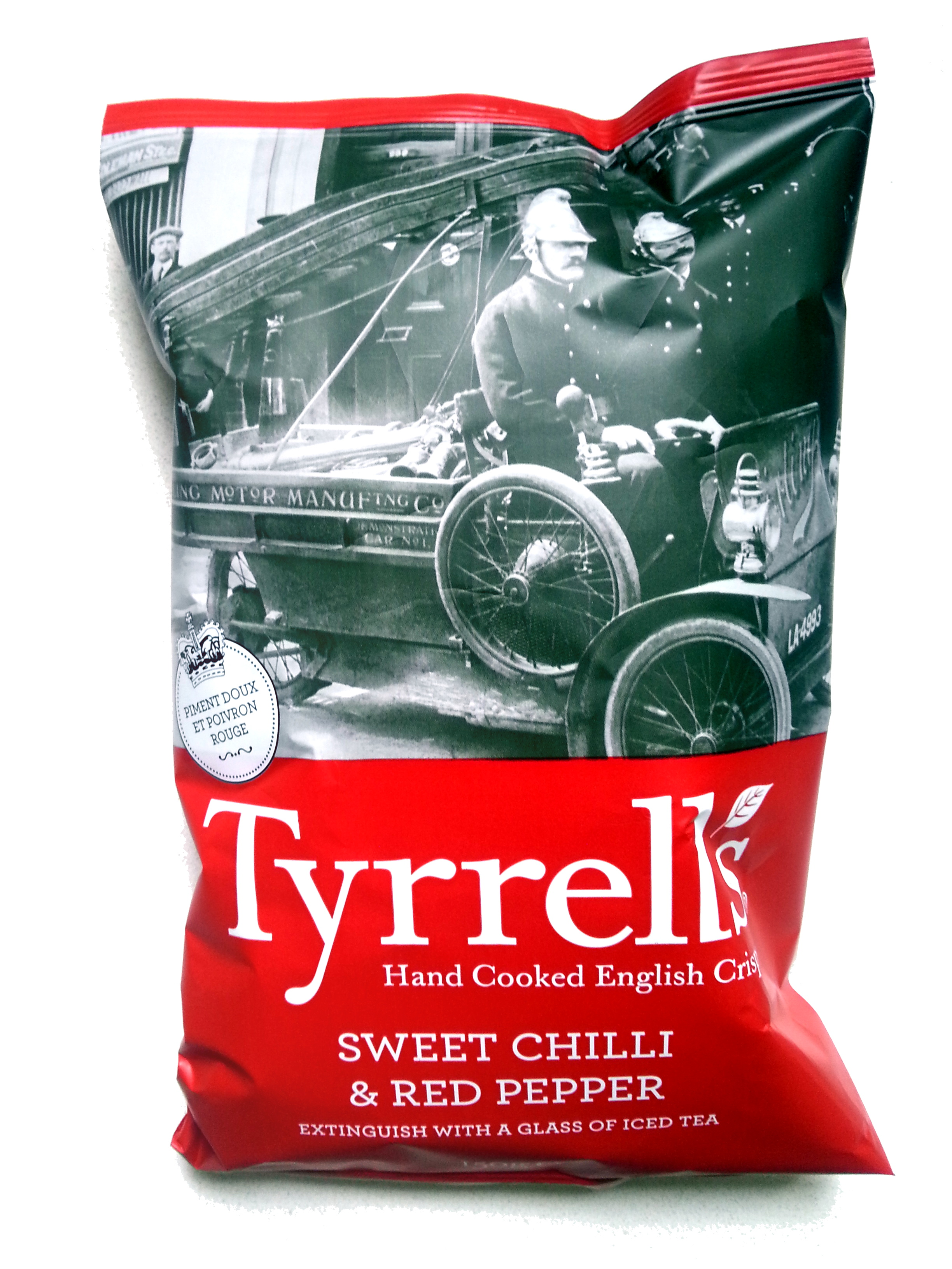 Hand cooked English crisps sweet chilli & Red Pepper - Produit