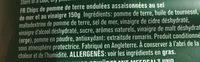 Tyrrell's sea salt & vinegar - Ingredients - fr