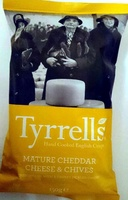 Hand cooked English Crisps Mature Cheddar Cheese & Chives - Product