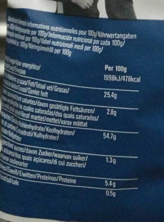 Red, white & blue crisps - Valori nutrizionali - en