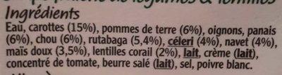 Vegetable Soup - Ingrediënten - fr