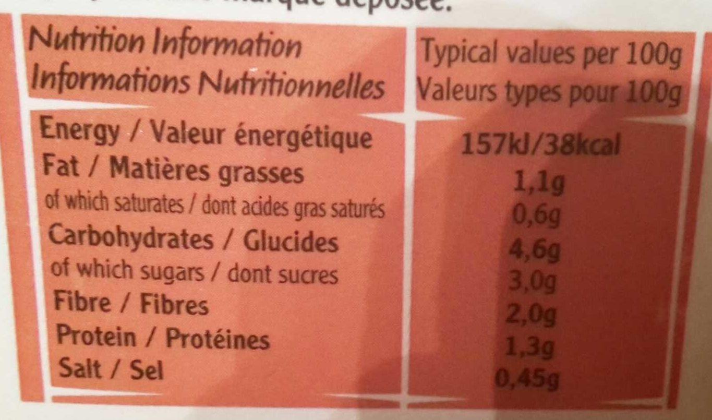 Vegetable Soup - Voedingswaarden - fr