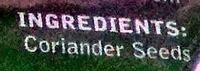 Coriander Seeds - Ingredients
