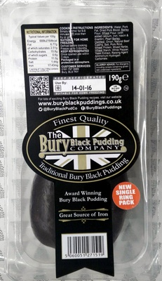 Traditional Bury Black Pudding - Product - en