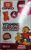 Vitamine Oursons multi-Vitamines goût Fraise - Produit