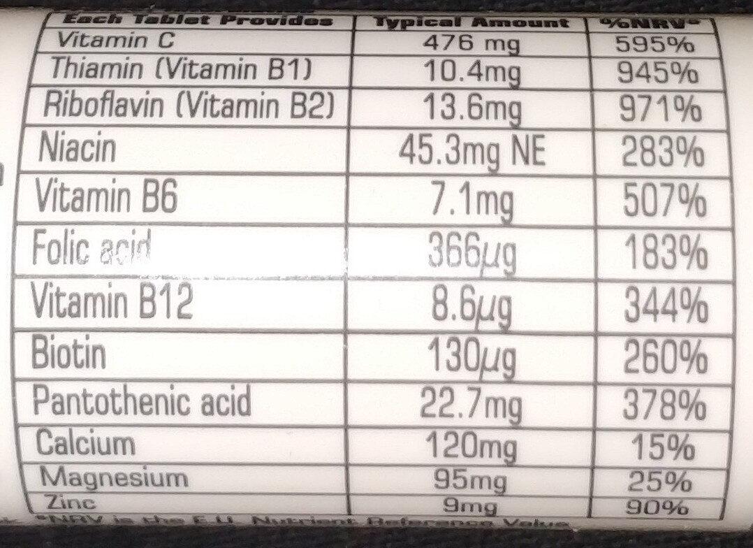 BodyVolt Energy Effervescent - Informations nutritionnelles - en