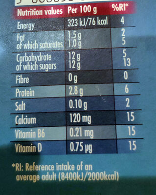 Actimel Strawberry - Nutrition facts - en