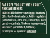 Rasberry yogurt - Ingredients