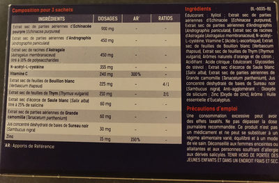 Santé Verte Acti'rub - Valori nutrizionali - fr