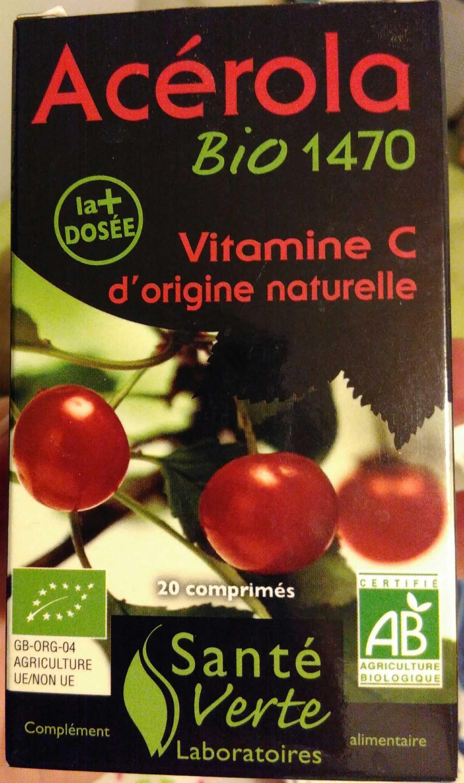 Acérola bio 1470 vitamine C origine naturelle - Produit - fr