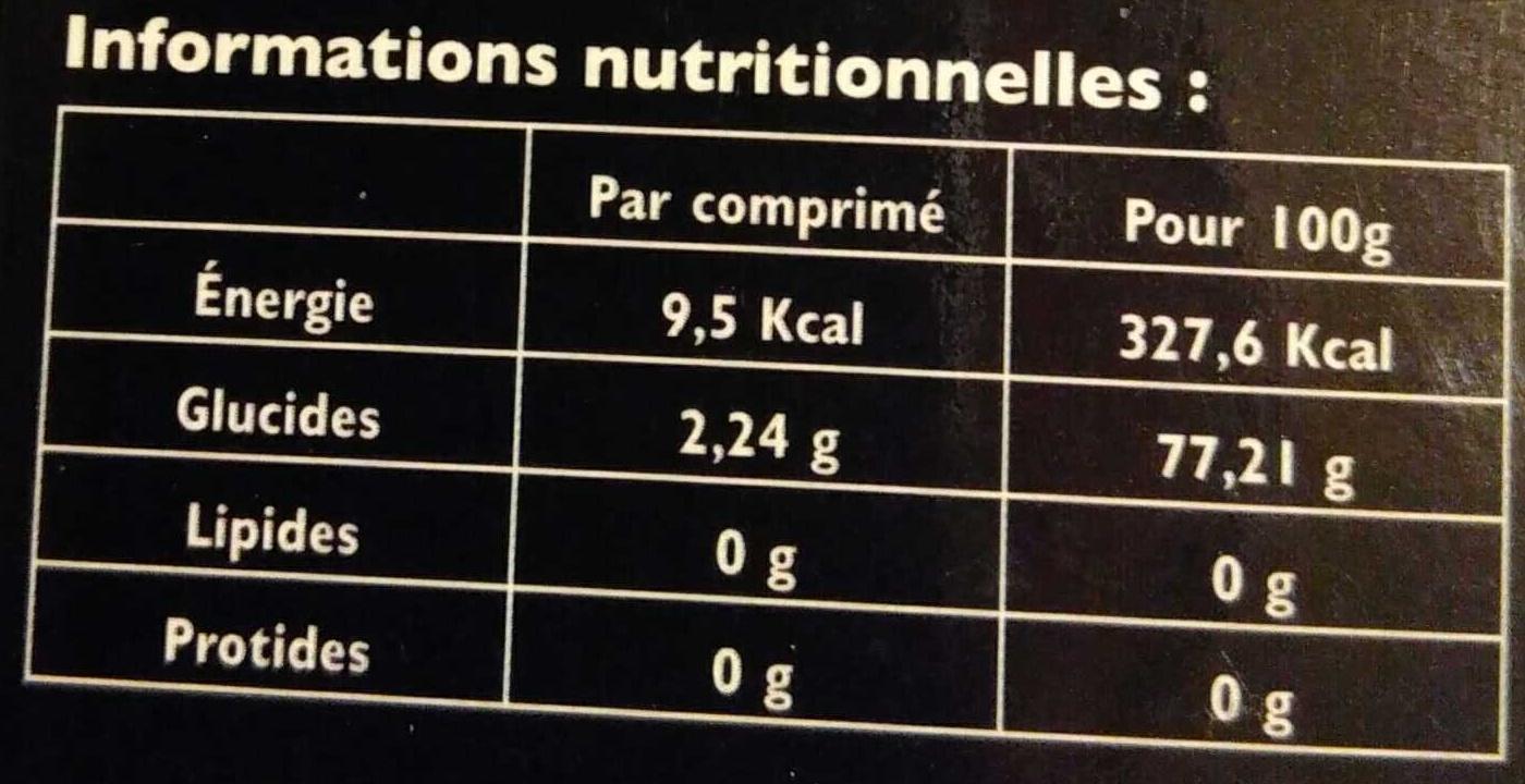 Acérola bio 1470 vitamine C origine naturelle - Informations nutritionnelles - fr