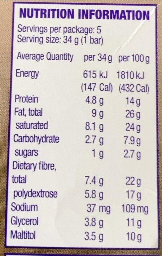 Cherry Coconut Low Sugar Treat - Nutrition facts - en