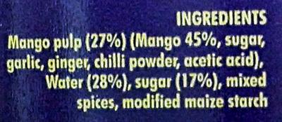 Sweet & Spicy Mango Ketchup - Ingredients - en