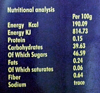 Sweet & Spicy Mango Ketchup - Nutrition facts - en