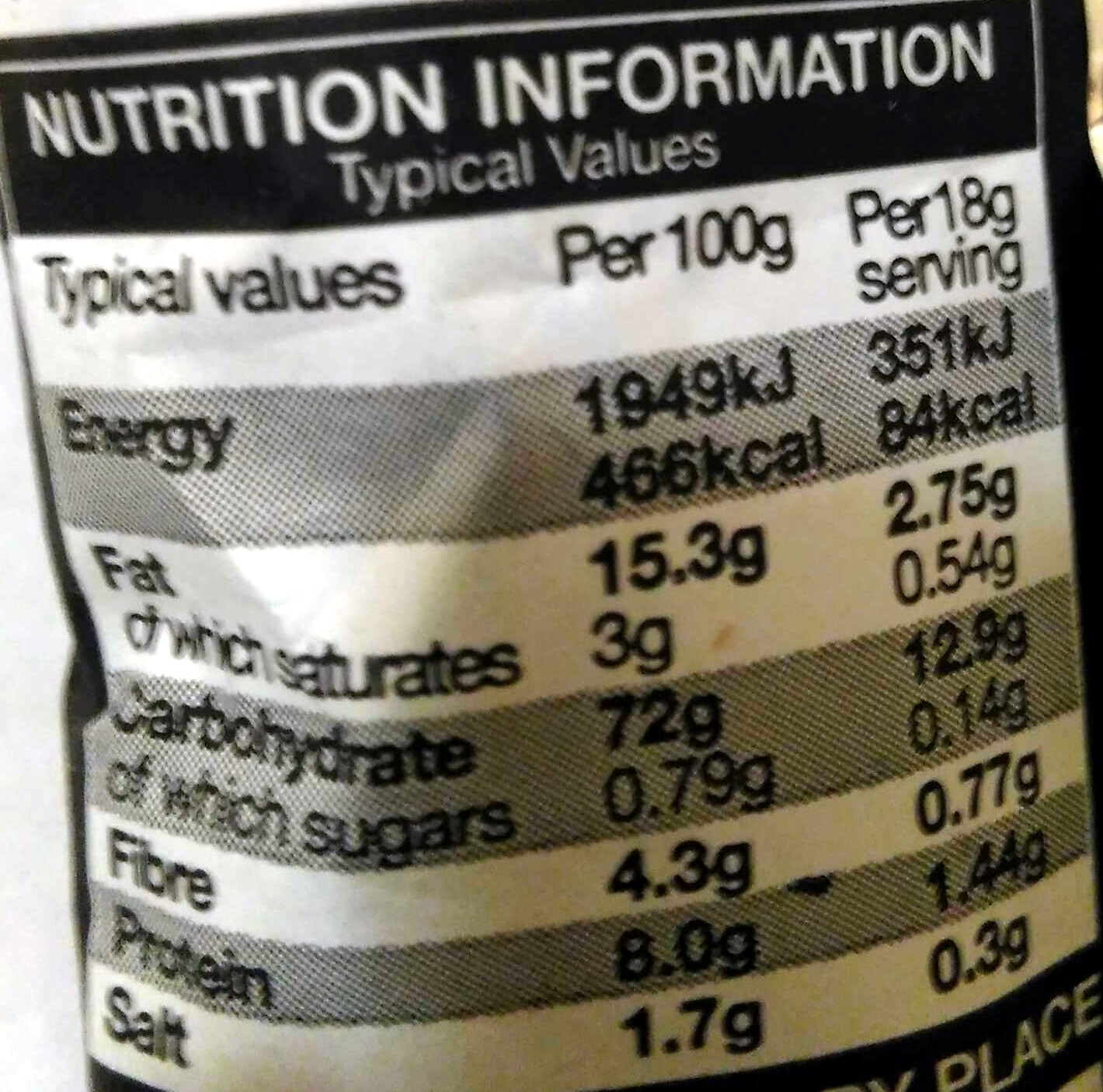 Darling Corn - Nutrition facts - en