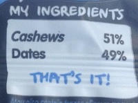 Cashew cookie - Ingrediënten