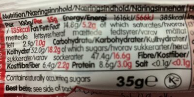 Nakd Berry Delight - Nutrition facts