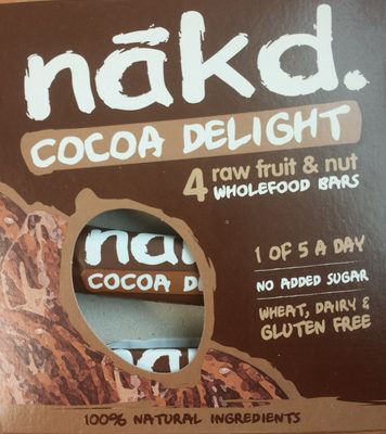 Nakd Cocoa Delight Bars 4 Pack - Product - en