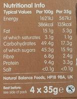 Nakd Cocoa Delight Bars 4 Pack - Nutrition facts - en