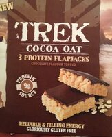 Cocoa Oat Protein Flapjacks Chocolate Flavour Topped 3 x - Producto - en