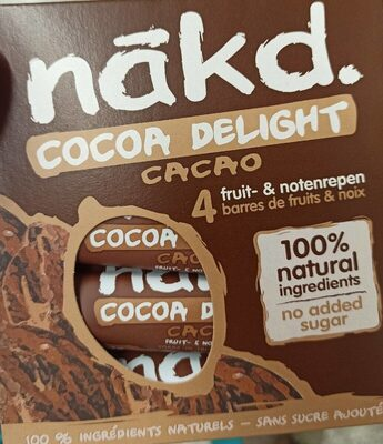Nākd. Cocoa delight - Producto - fr