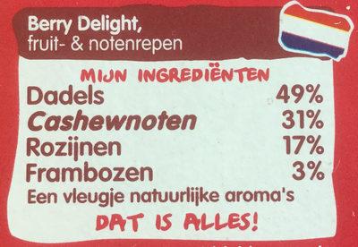 Berry Delight - Ingrediënten