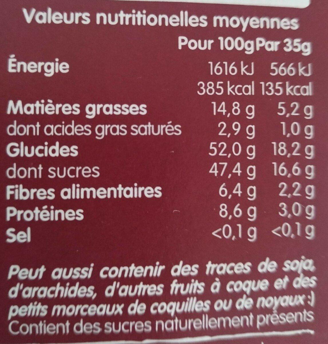 NAKD Framboise - Berry Delight - Informations nutritionnelles - fr