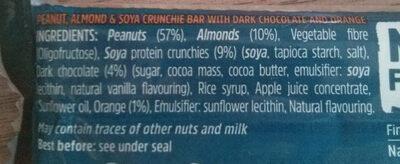 Protein Nut Bar - Ingredients