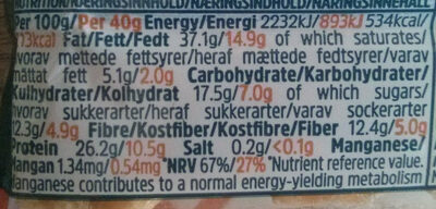Protein Nut Bar - Nutrition facts - en