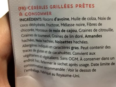 Granola original - Ingrediënten