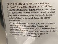 Lizi's granola Treacle and Pecan - Inhaltsstoffe - fr
