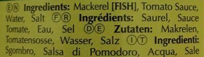 Maquereaux à la Sauce Tomate - Ingredients