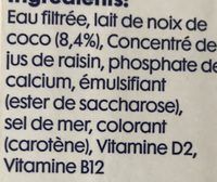 Koko Original + Calcium - Ingredients