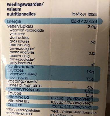 Koko Original + Calcium - Nutrition facts
