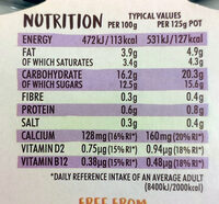 Peach and Passion Fruit - Nutrition facts - en