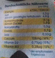 Kokos & Zitrone - Informations nutritionnelles