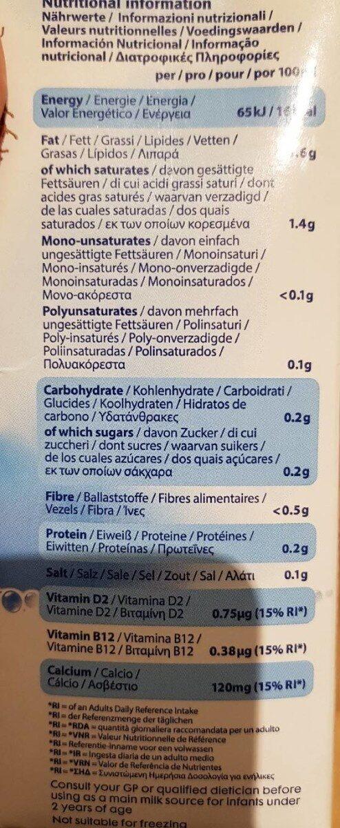 Unsweetened Dairy Free Alternative Milk - Διατροφικά στοιχεία - fr