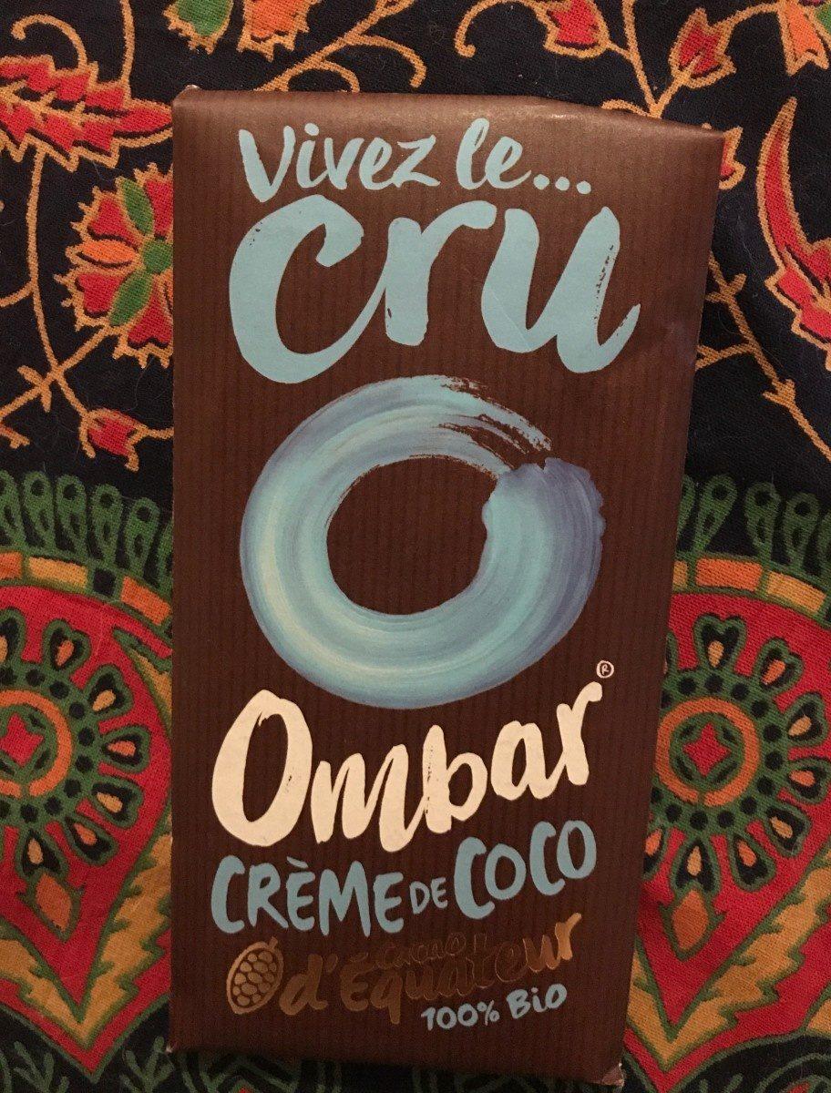 Ombar crème de coco cacao d'Equateur 100% bio - Produit