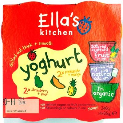 Yoghurt 2xStrawberry+Pear 2xPineapple+Mango - Product
