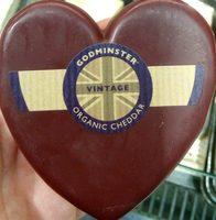 Godminster Organic Vintage Cheddar Heart - Produit