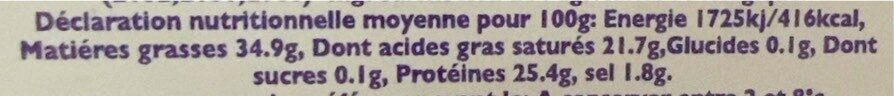 Godminster cheddar bio - Nutrition facts - fr