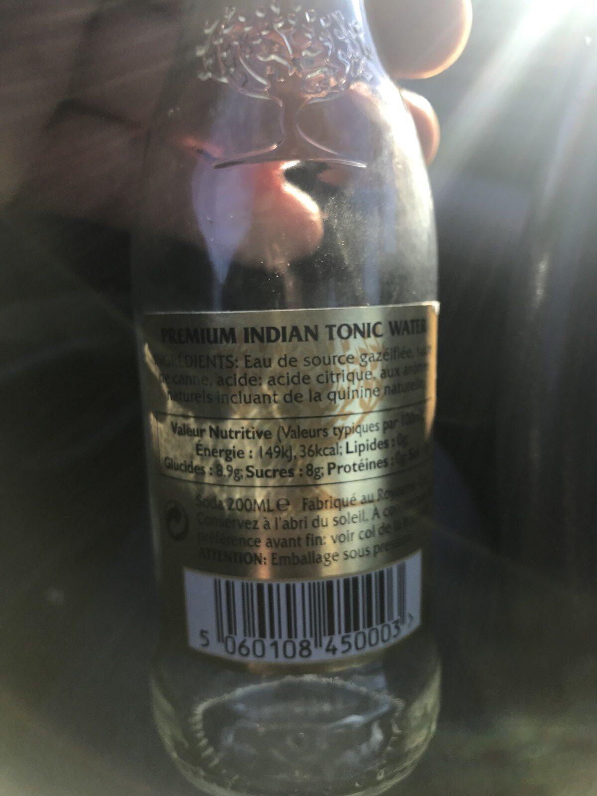 Premium Indian Tonic - Ingrédients