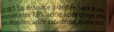 Lemon Tonic - Ingredients
