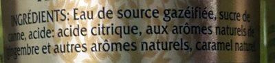 Premium Ginger Ale - Ingrediënten