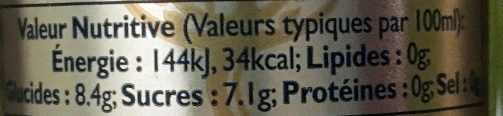 Premium Ginger Ale - Voedingswaarden