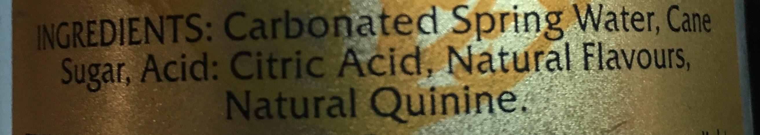 Premium Indian Tonic Water - Ingredients - en
