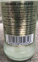 Fever-Tree Premium Natural Mixers Premium Ginger Beer - Ingredienti - fr