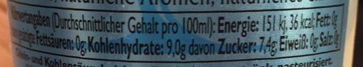 Mediterranean Tonic Water - Voedingswaarden - de