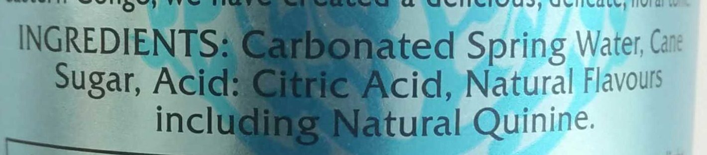 Mediterranean Tonic Water - Ingrédients - en