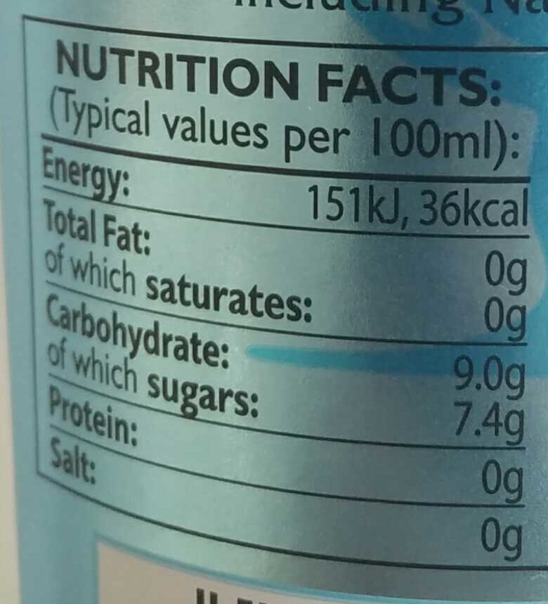 Mediterranean Tonic Water - Informations nutritionnelles - en